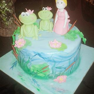 Frog and the princess themed cake