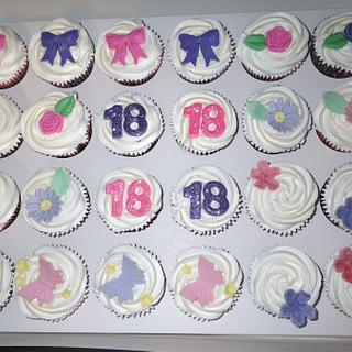 Girly 18th Cupcakes