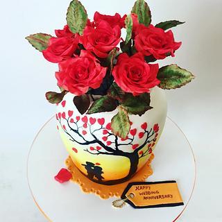 Flower Vase - Cake by Seema Tyagi