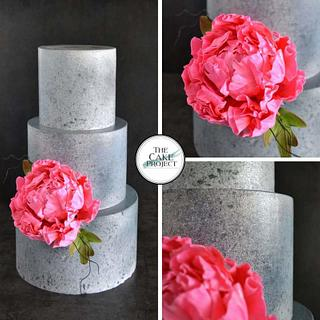 Granite and peony  - Cake by TheCakeProjectCH