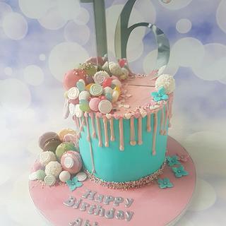 Sweet sixteen sweet overload cake