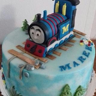 Thomas the train - Cake by Ellyys