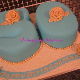 Blue 50 Cake