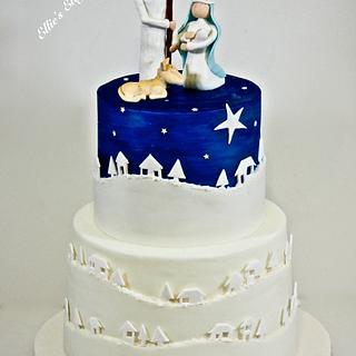 Nativity Christmas Cake - Cake by Ellie @ Ellie's Elegant Cakery