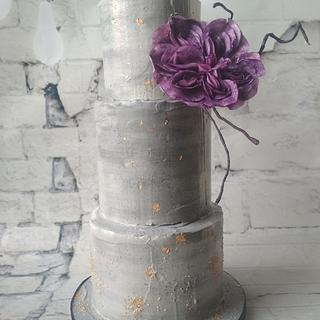 Buttercream Concrete wedding cake