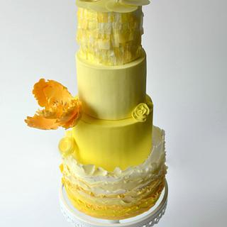 Yellow Ombre Cake - Cake Masters Color Boom issue