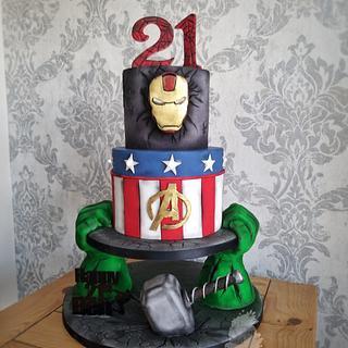 Marvel Avengers 21st birthday cake