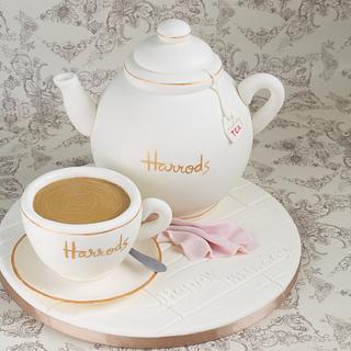 A cup of tea at Harrods