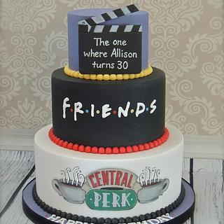 """Friends"" themed 30th birthday cake"