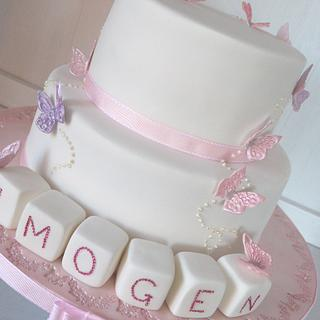 Imogen Naming Ceremony Cake