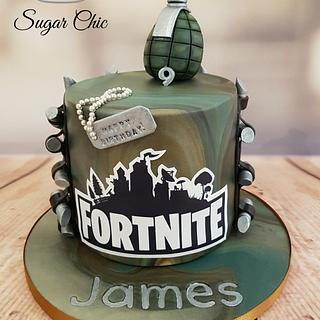 x Fortnite Cake x