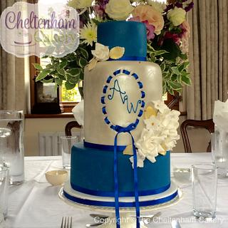 Peacock Lustre Cake - Cake by The Cheltenham Cakery