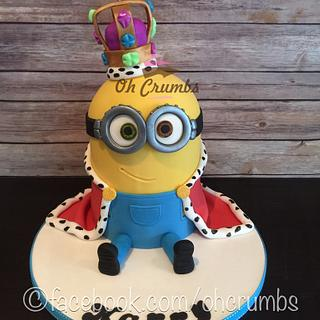 King Bob minion  - Cake by Oh Crumbs