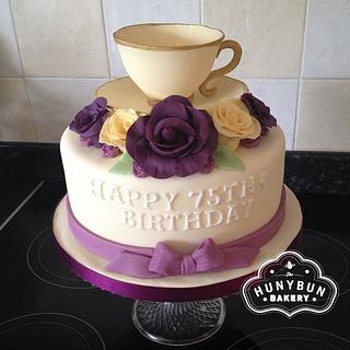Tea Cup Birthday Cake - Cake by Hannah Gayfer