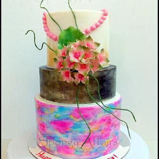 Modern Anniversary Cake!