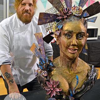 """Cocoa"" Live Sculpting at International Cake Show Australia"