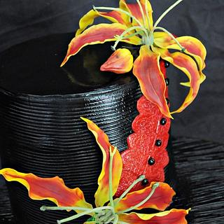 Flame Lily cake