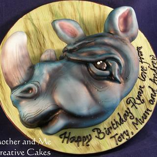 Airbrushed Rhino