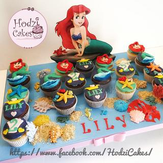 Little Mermaid Cupcakes 🐬🐠🐙💙💙