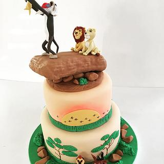 Lion King Theme Cake - Cake by Creative Cakes - Deborah Feltham