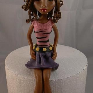 Chocolate Clawdeen Wolf from monster high - Cake by For the love of cake