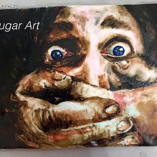 hand painted fondant - Cake by G Sugar Art