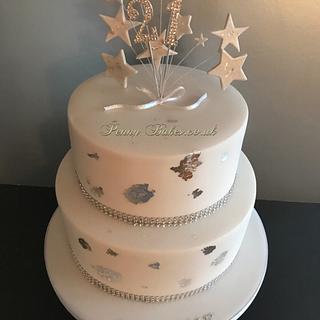 Sparkling 21st Birthday cake