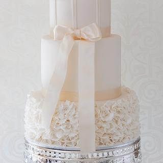 Ruffle Wedding Cake