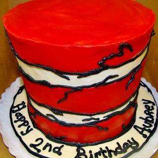 Cat in the Hat Birthday cake (ALL Buttercream)