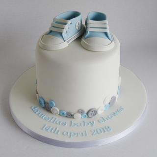 Boys baby shower baby Converse cake