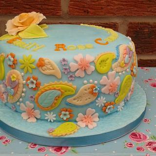 Pretty, Pastel, Paisley - Cake by Karen's Kakery