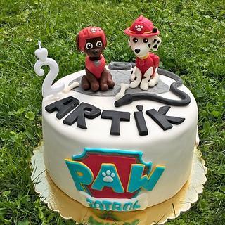 Paw Patrol cake for little boy