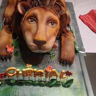 Leonard the lion cake