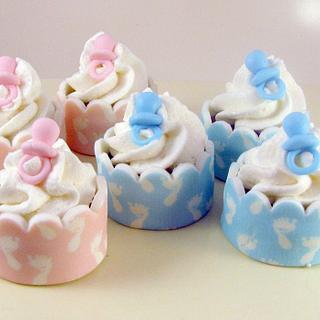 Mini Pacifier Cakes