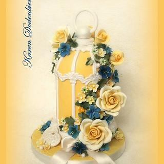 Yellow Bird Cage! - Cake by Karen Dodenbier