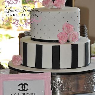 Coco Chanel Bridal Shower Cake