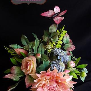 Sugar flowers bouquet  - Cake by Yomna Elazawy