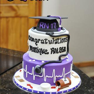 Nurses Graduation Cake