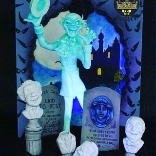 Disney Haunted Mansion - Cakes that go bump in the Night collaboration  - Cake by Zoe Smith Bluebird-cakes