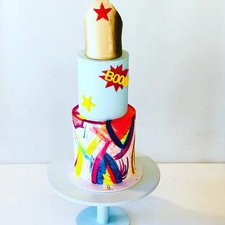 Wonder woman + Art Cake