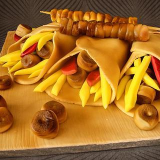 Souvlaki cake