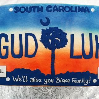 South Carolina License Plate