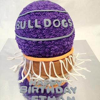 Basketball and Hoop - Cake by Dawn Henderson