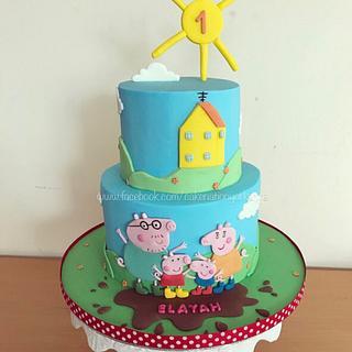 Peppa pig cake  - Cake by Cake Nation