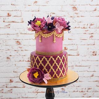 Moroccan in Lilac  - Cake by Signature Cake By Shweta