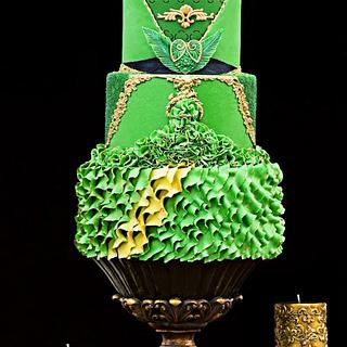 """Georges Chakra"" inspired Fashion Cake"