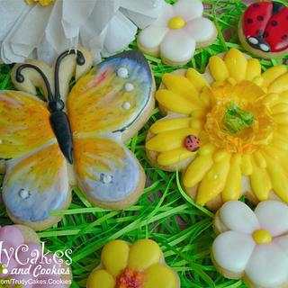 Painted butterfly cookie