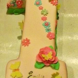 Number 1 Birthday Cake - Cake by Jules