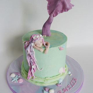 Mermaid under the sea cake - Cake by Angel Cake Design