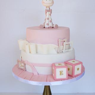 Giraffe Christening Cake